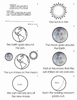 Phases Of the Moon Worksheet Lovely Moon Phases Worksheet & Mini Book by Little Stars Learning