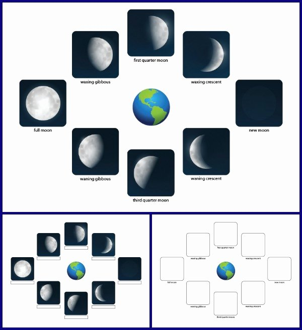 Phases Of the Moon Worksheet Lovely the Phases Of the Moon Free Printables and Learning Activities