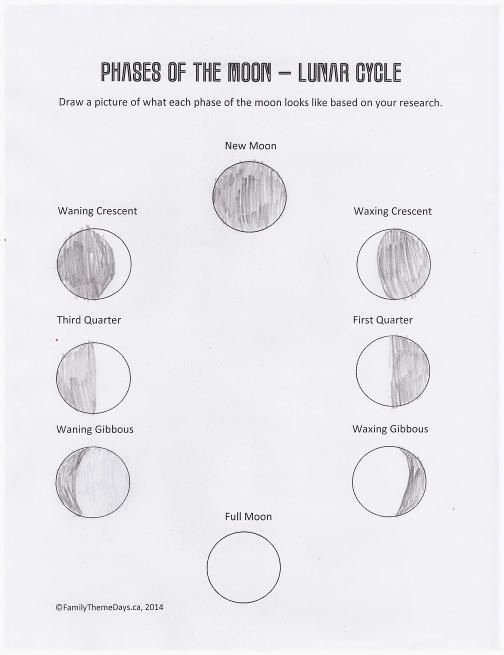Phases Of the Moon Worksheet New 47 Best Images About the Moon Lunar Crafts and Projects