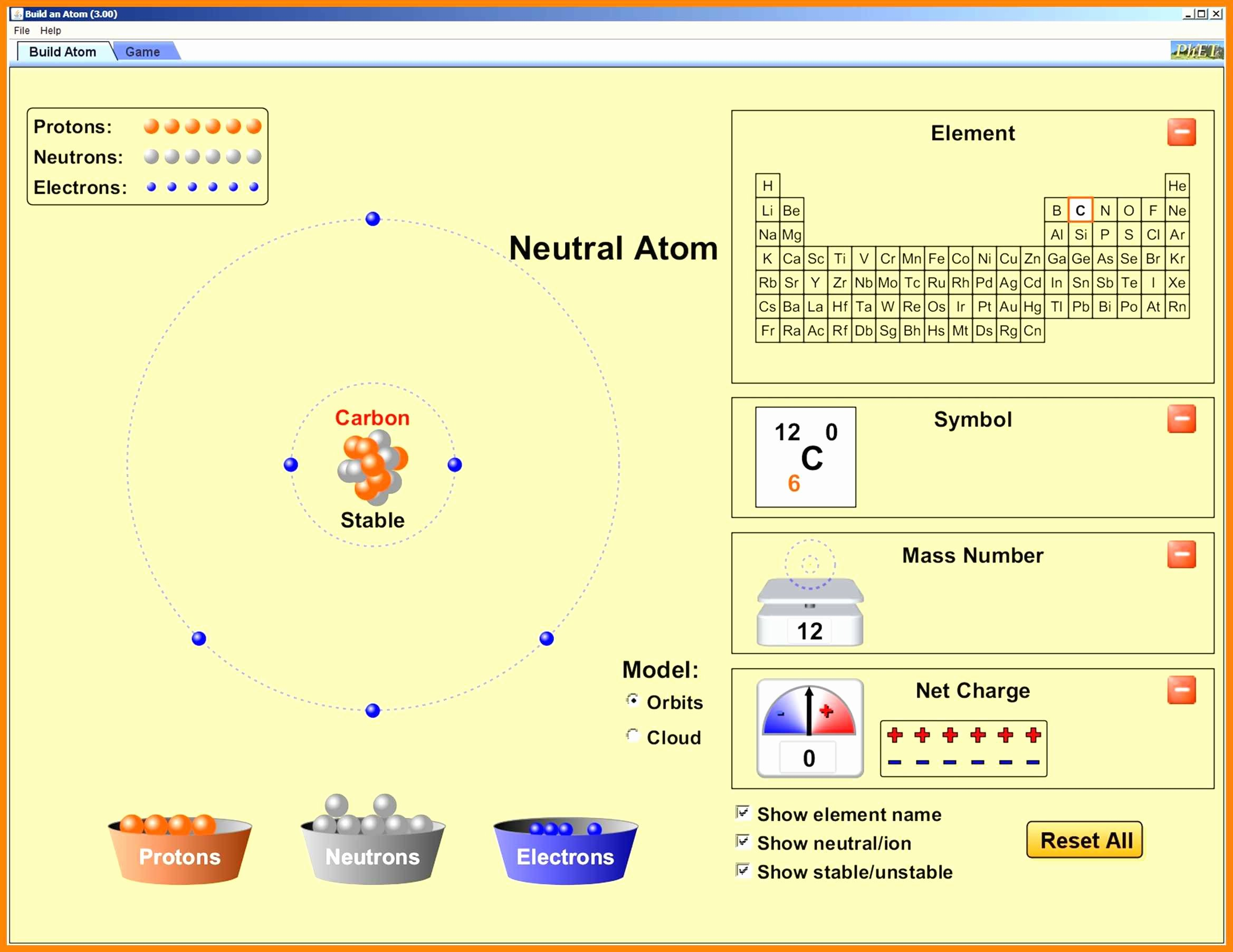 Phet Build An atom Worksheet Luxury 4 5 Build An atom Worksheet