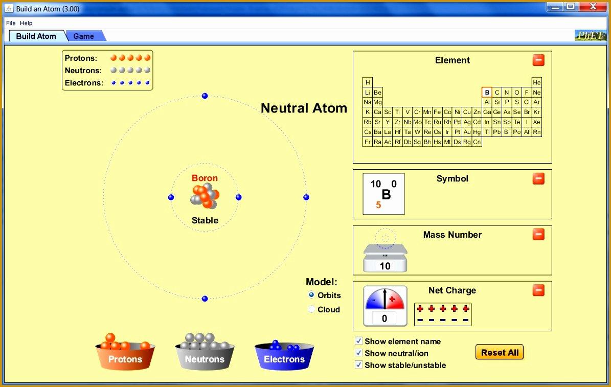 Phet Build An atom Worksheet Unique 7 Build An atom Phet Lab Worksheet Answers