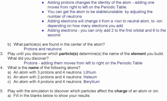 Phet Build An atom Worksheet Unique the Latest Template Of Phet isotopes and atomic Mass