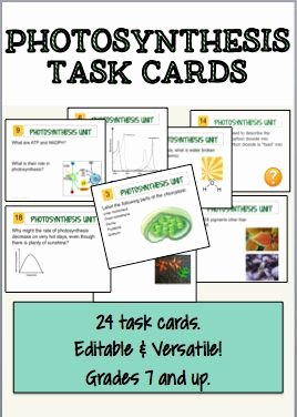 Photosynthesis Worksheet Middle School Lovely Synthesis Class Activities and Task Cards On Pinterest