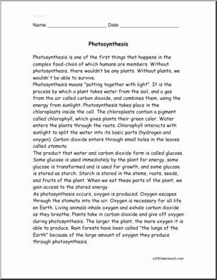 Photosynthesis Worksheet Middle School New Prehension Synthesis Upper Elem Middle