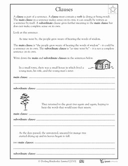 Phrase and Clause Worksheet Elegant A Sentence Worksheets and Sentences On Pinterest