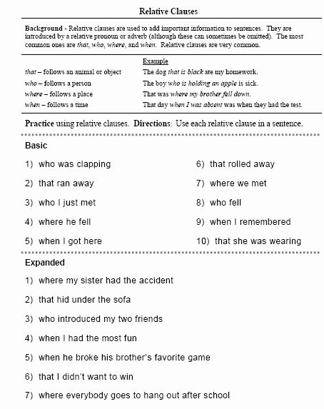 Phrase and Clause Worksheet Lovely Pound and Plex Sentences