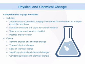 Physical and Chemical Change Worksheet Awesome Chemical Reactions and Equations [worksheet Bundle] by