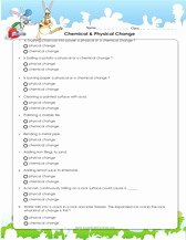Physical and Chemical Change Worksheet Lovely 3rd Grade Science Activity Worksheets Pdf