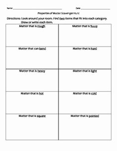 Physical Properties Of Matter Worksheet Elegant 14 Best Of Physical Changes Matter Worksheets