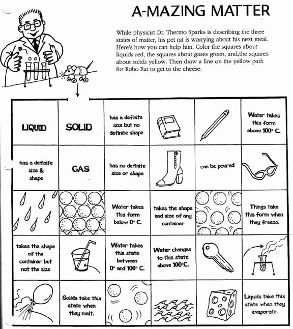 Physical Properties Of Matter Worksheet New Matter Worksheets solid Liquid Gas Worksheet