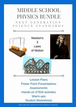 Physical Science Newton's Laws Worksheet Elegant Physics and Newton S Laws Science Unit by Lessons for