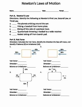 Physical Science Newton's Laws Worksheet Luxury Newton S Three Laws Of Motion Places to Visit