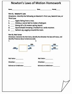 Physical Science Newton's Laws Worksheet New Newton S 2nd Law Worksheet and Key