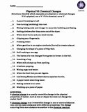 Physical Vs Chemical Changes Worksheet Inspirational Travis Terry Teaching Resources