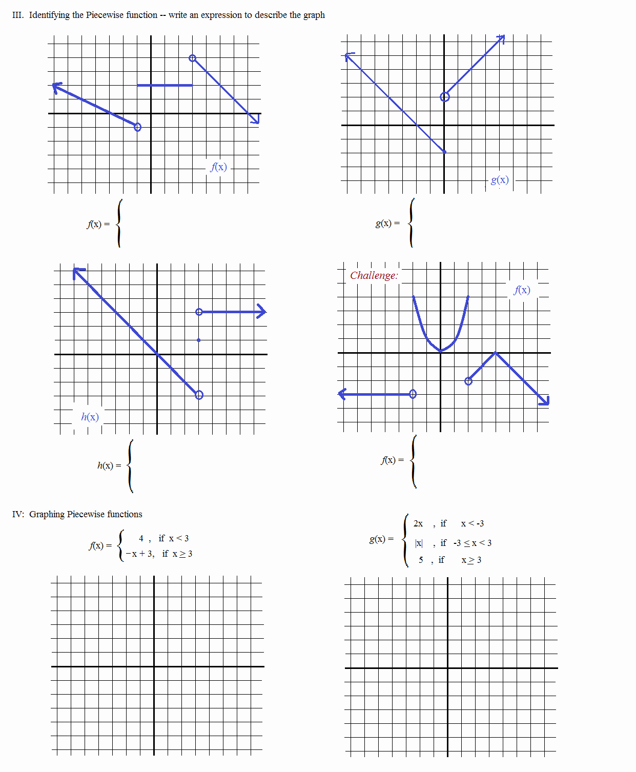 Piecewise Functions Worksheet with Answers Awesome Math Plane Piecewise Functions & F X Notation