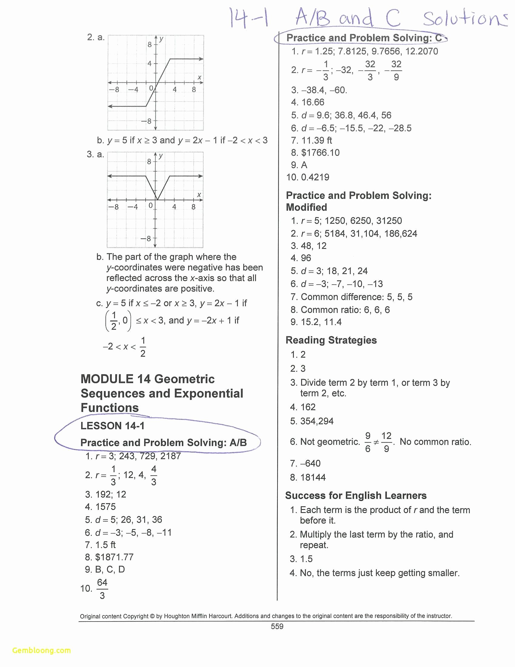 Piecewise Functions Worksheet with Answers Awesome Piecewise Functions Worksheet 1 Answers
