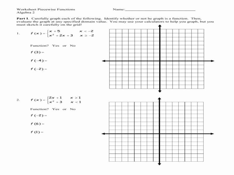 Piecewise Functions Worksheet with Answers Awesome Worksheet Piecewise Functions Answers