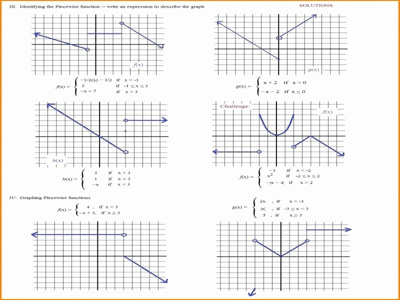 Piecewise Functions Worksheet with Answers Best Of Worksheet Piecewise Functions Algebra 2 Answers Free