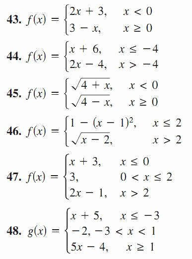 Piecewise Functions Worksheet with Answers Elegant Worksheet Piecewise Functions Answers
