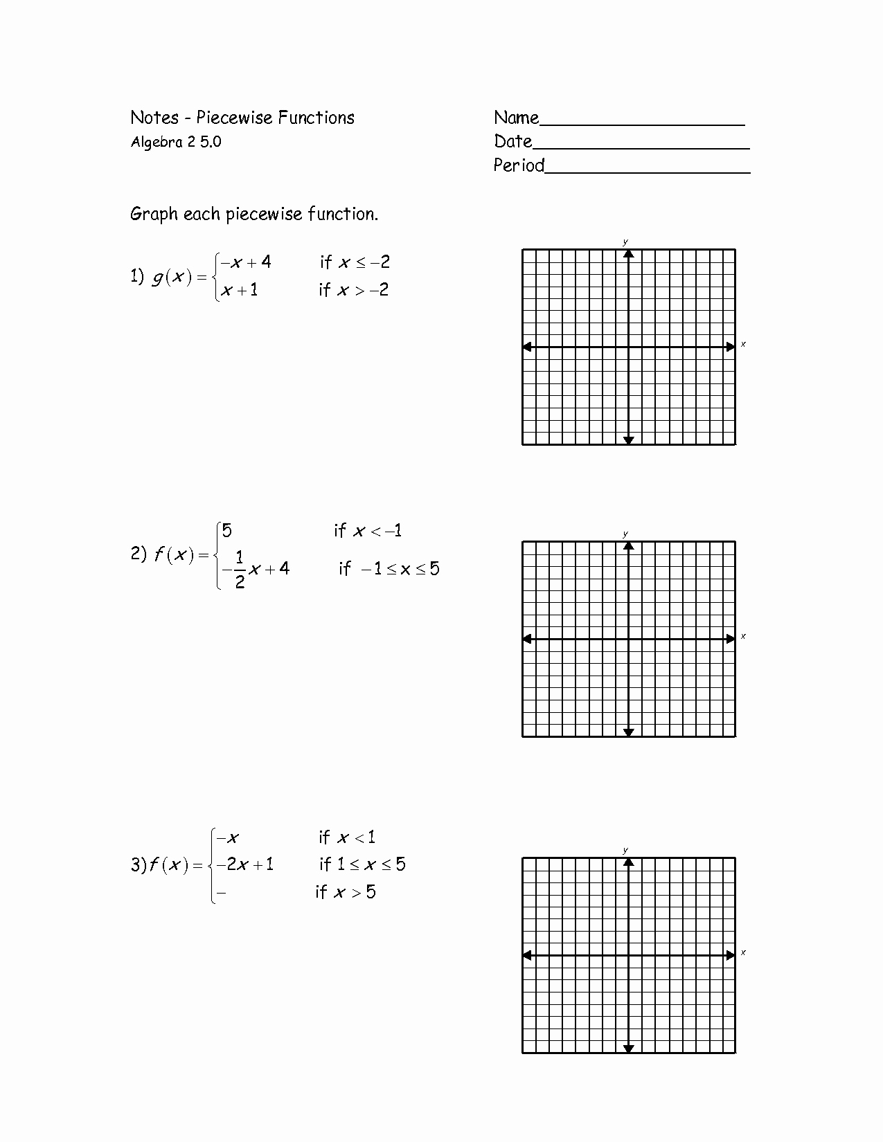Piecewise Functions Worksheet with Answers Fresh Graphs Of Piecewise Functions Worksheet Google Search
