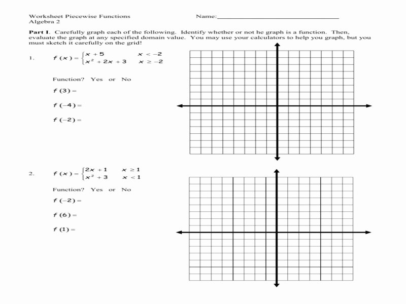Piecewise Functions Worksheet with Answers Luxury Worksheet Piecewise Functions Algebra 2 Answers Free