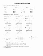 Piecewise Functions Worksheet with Answers Luxury Ws Piecewise Functionsc Worksheet Piecewise Functions