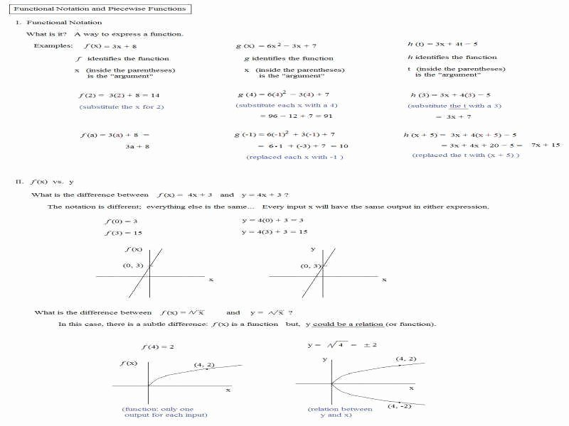 Piecewise Functions Worksheet with Answers Unique Worksheet Piecewise Functions Answers