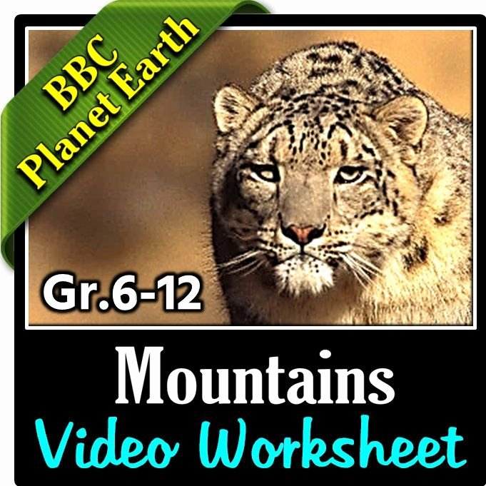 Planet Earth Freshwater Worksheet Answers Unique Planet Earth Mountains Video Questions Worksheet