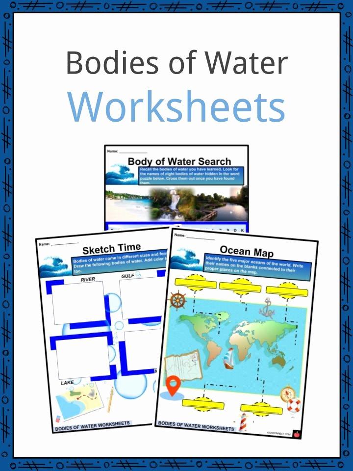Planet Earth Freshwater Worksheet Luxury Bo S Of Water Facts Worksheets Rivers and Streams for Kids