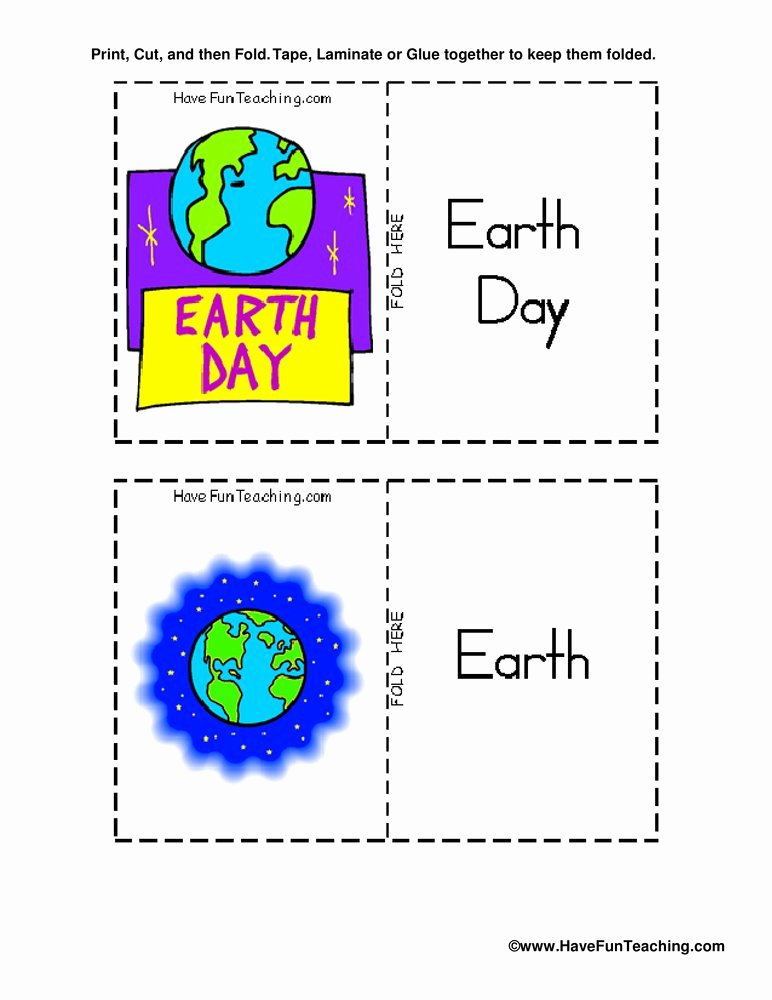 Planet Earth Freshwater Worksheet New Earth Day Flash Cards
