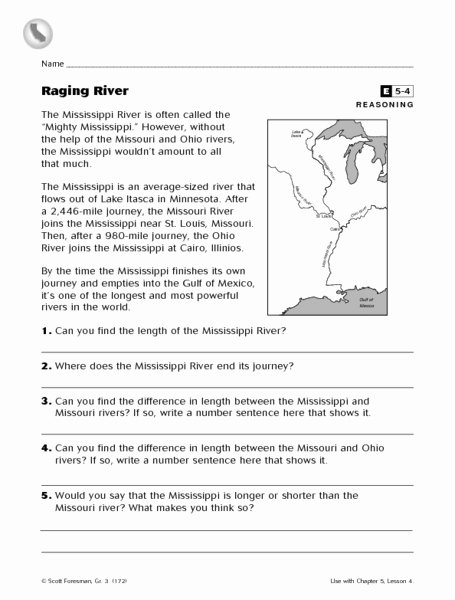 Planet Earth Freshwater Worksheet New Raging River Worksheet for 3rd Grade