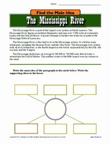 Planet Earth Freshwater Worksheet New the Mississippi River Worksheet for 9th 12th Grade