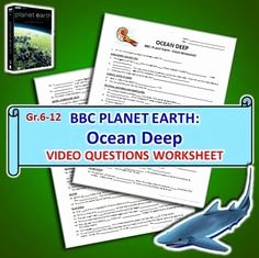 Planet Earth Ocean Deep Worksheet Inspirational Bbc Planet Earth Worksheets & Quizzes On Pinterest