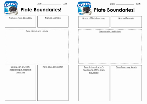 Plate Boundary Worksheet Answers Beautiful oreo Plate Boundaries by Amysearle83 Teaching Resources