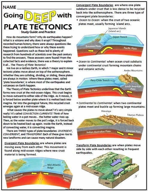 Plate Boundary Worksheet Answers Best Of This Worksheet Helps Student S Understanding Of Plate