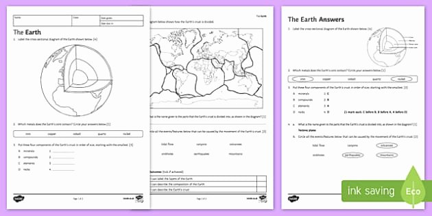Plate Tectonic Worksheet Answers Inspirational Tectonic Plates Worksheet