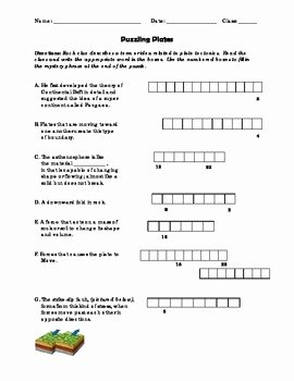 Plate Tectonic Worksheet Answers New Puzzling Plates Earthquakes Plate Tectonics