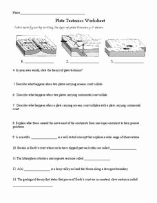 Plate Tectonics Worksheet Answer Key Elegant Plate Tectonics 6th 8th Grade Worksheet