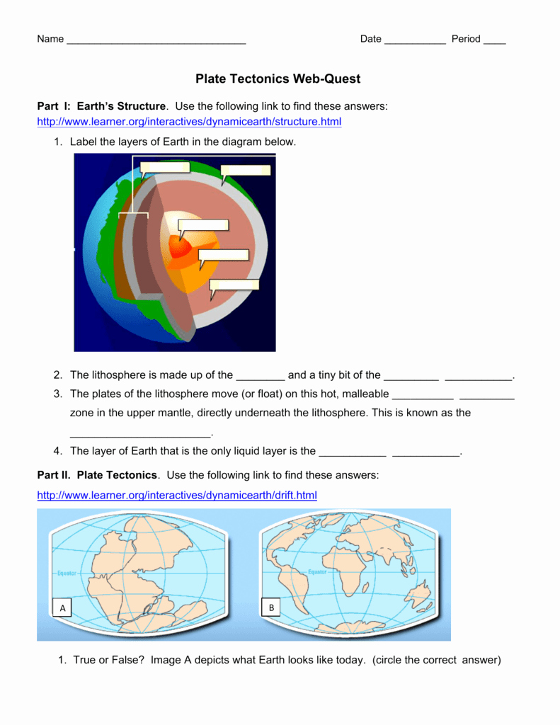 Plate Tectonics Worksheet Answer Key New Worksheet Plate Tectonics Worksheet Grass Fedjp