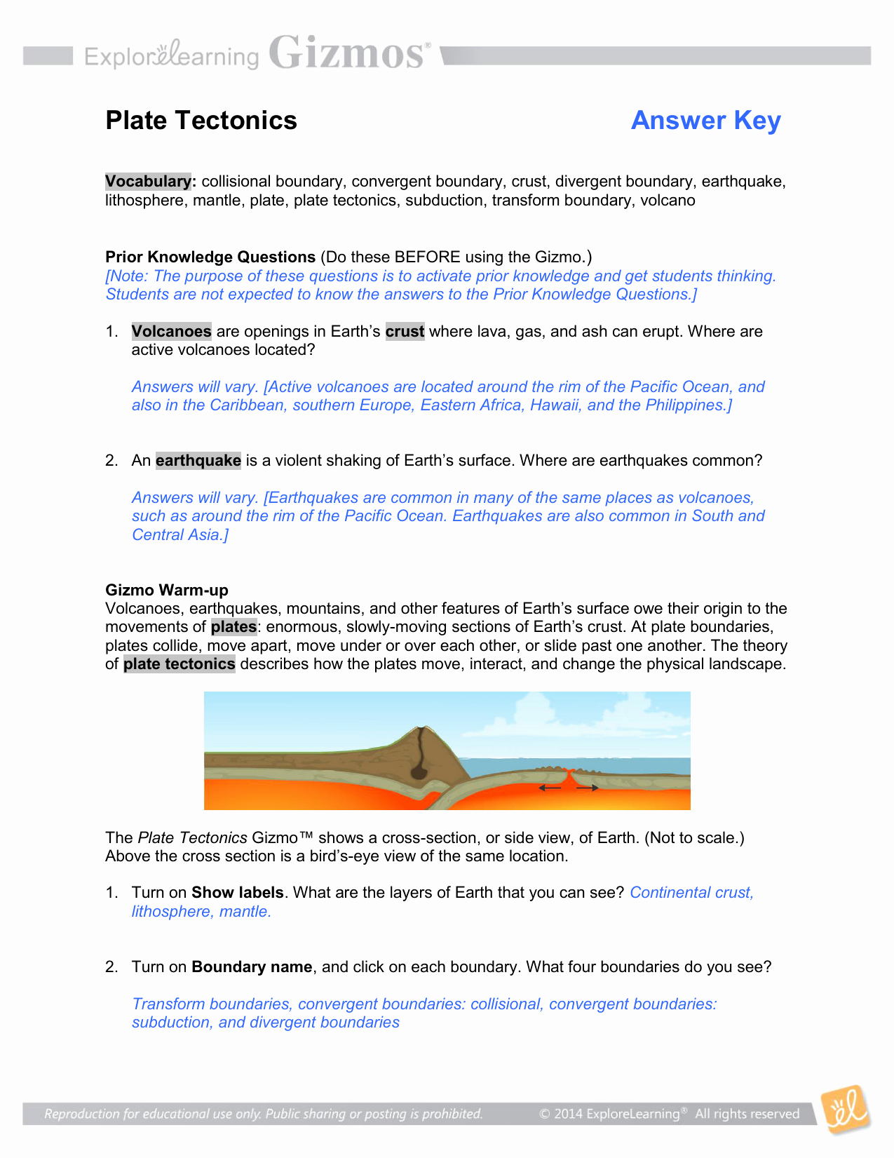 Plate Tectonics Worksheet Answer Key Unique Worksheet Volcanoes and Plate Tectonics Worksheet Answers