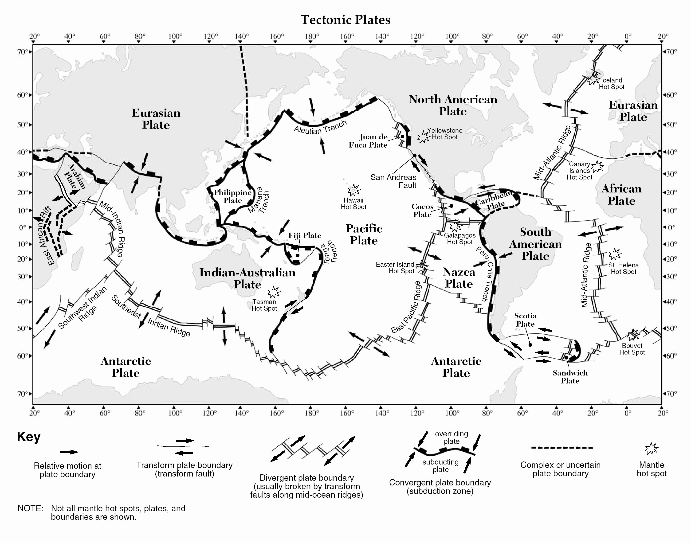 Plate Tectonics Worksheet Answers Best Of Review Tectonic Plate Boundaries