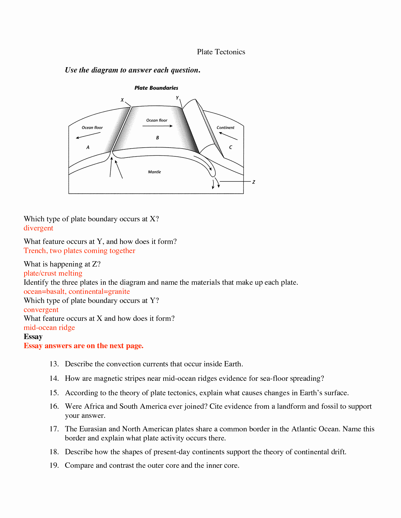 Plate Tectonics Worksheet Answers Lovely Subjunctive Mood Worksheets with Answers Keywordsfind