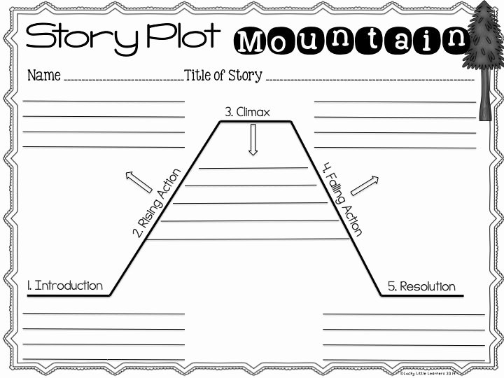 Plot Diagram Worksheet Pdf Awesome 15 Best Story Mountain Images On Pinterest