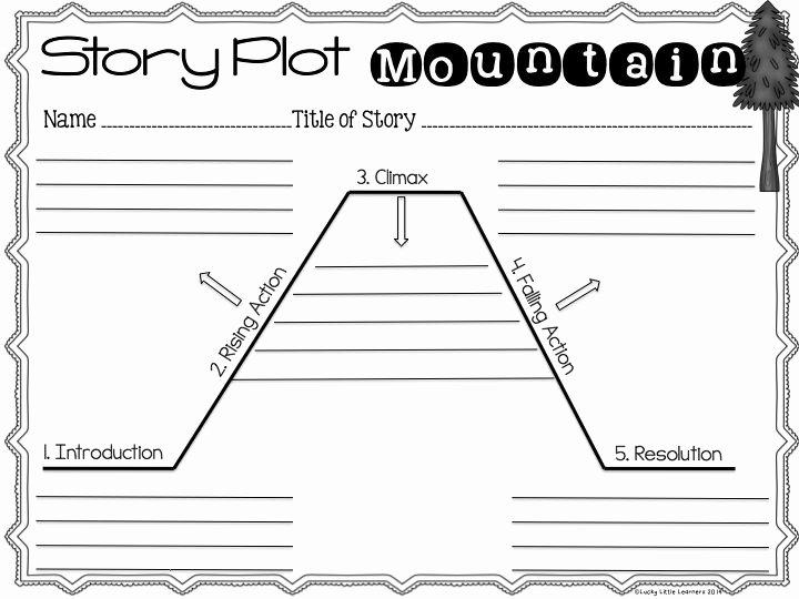 Plot Diagram Worksheet Pdf Awesome 15 Best Story Mountain Images On Pinterest