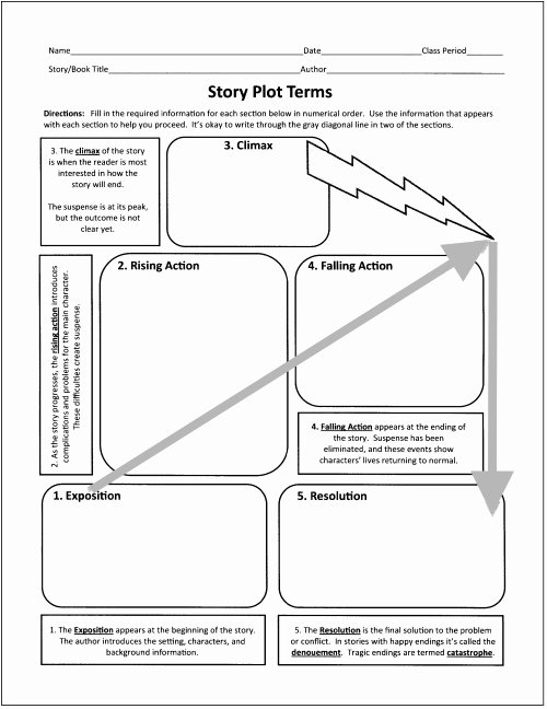 Plot Diagram Worksheet Pdf Awesome Free Graphic organizers for Teaching Literature and Reading