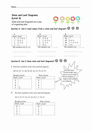 Plot Diagram Worksheet Pdf Elegant Stem and Leaf Diagrams Worksheets by Nottcl