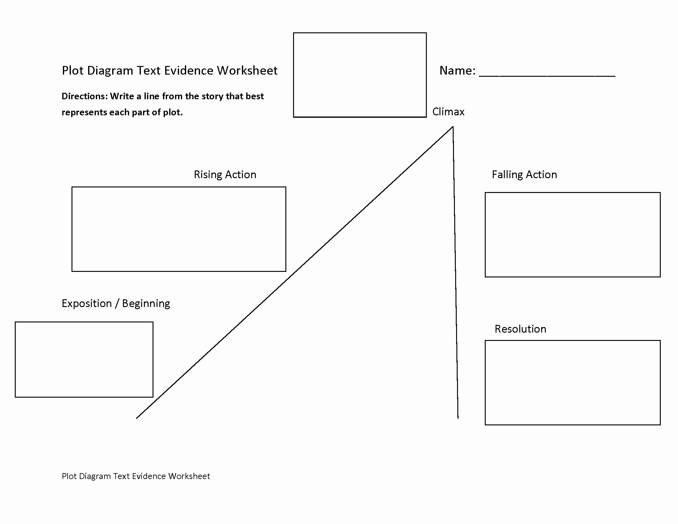 Plot Diagram Worksheet Pdf Fresh Englishlinx