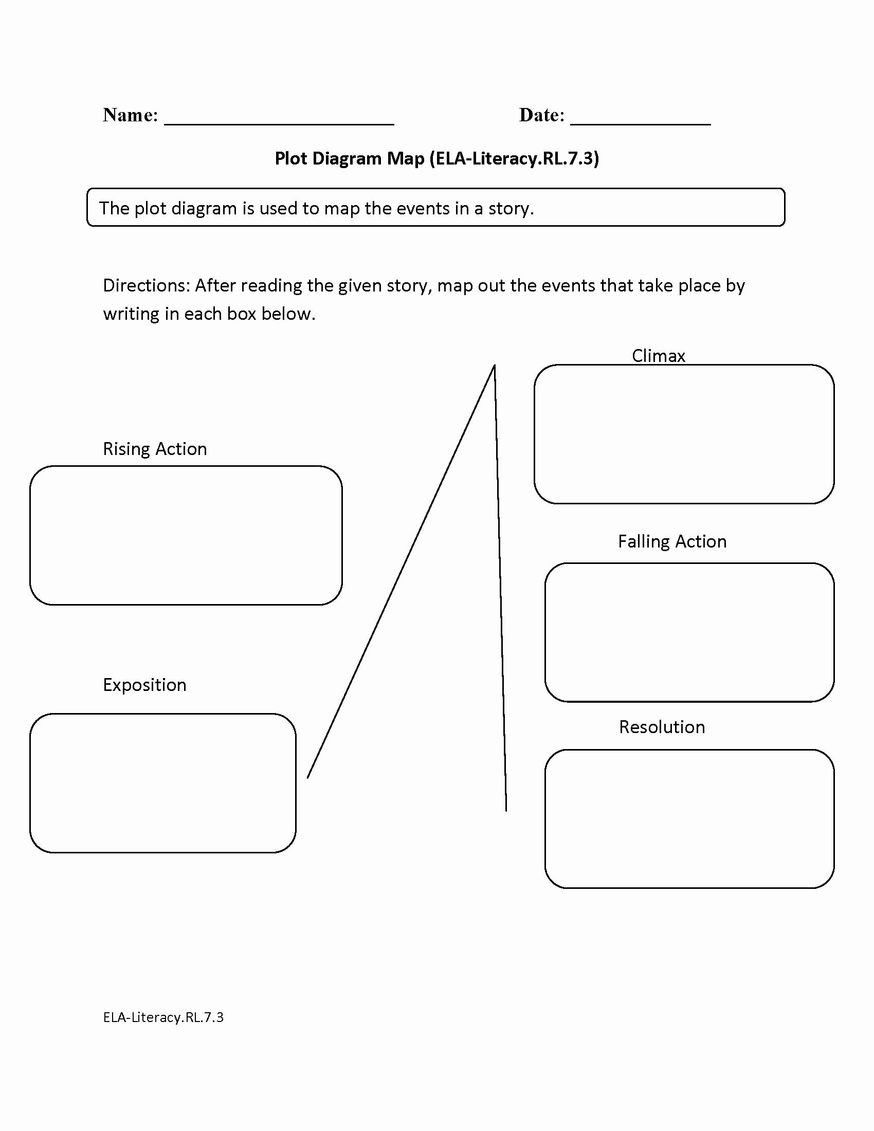 Plot Diagram Worksheet Pdf Inspirational Blank Plot Diagram Worksheet the Best Worksheets Image