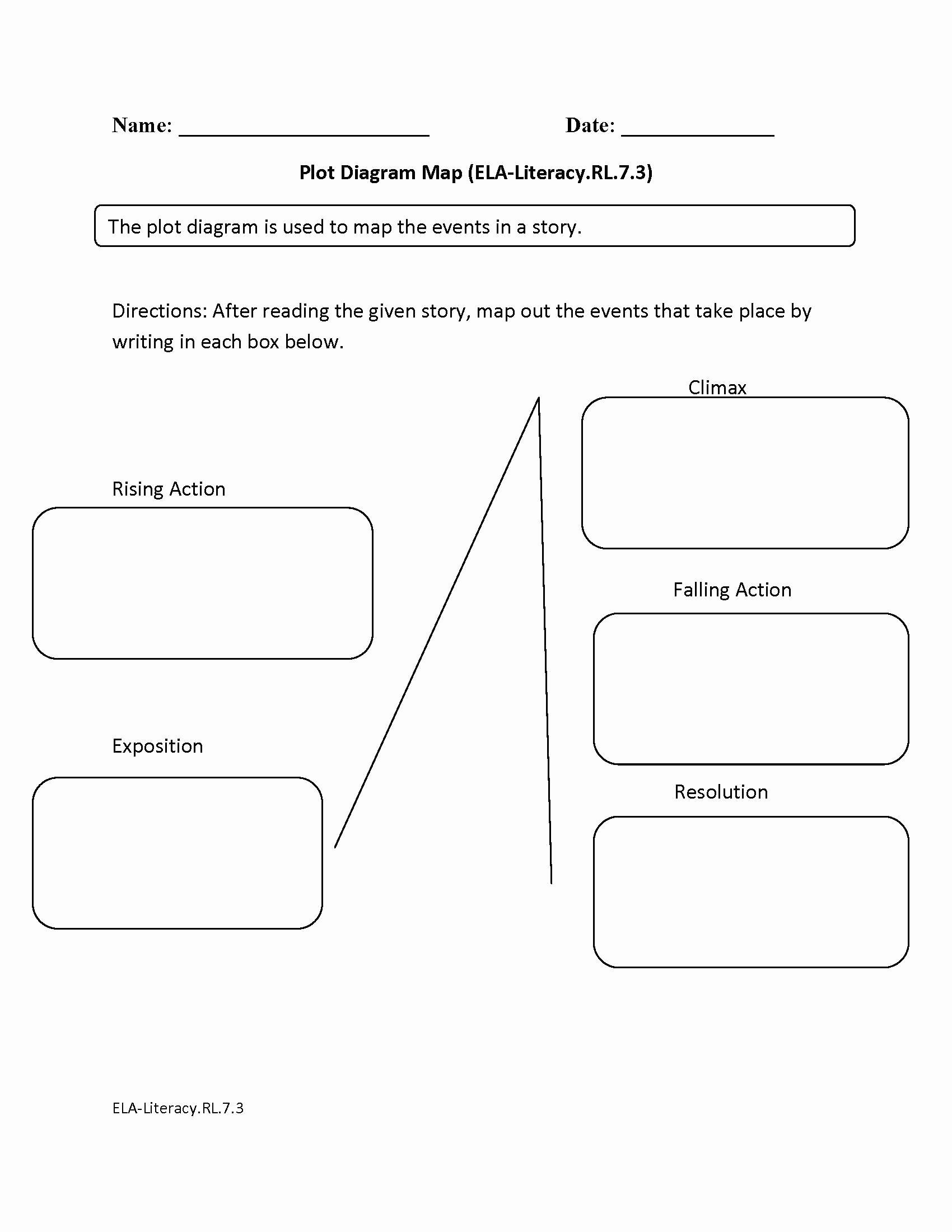Plot Diagram Worksheet Pdf Inspirational Blank Plot Diagram Worksheet the Best Worksheets Image