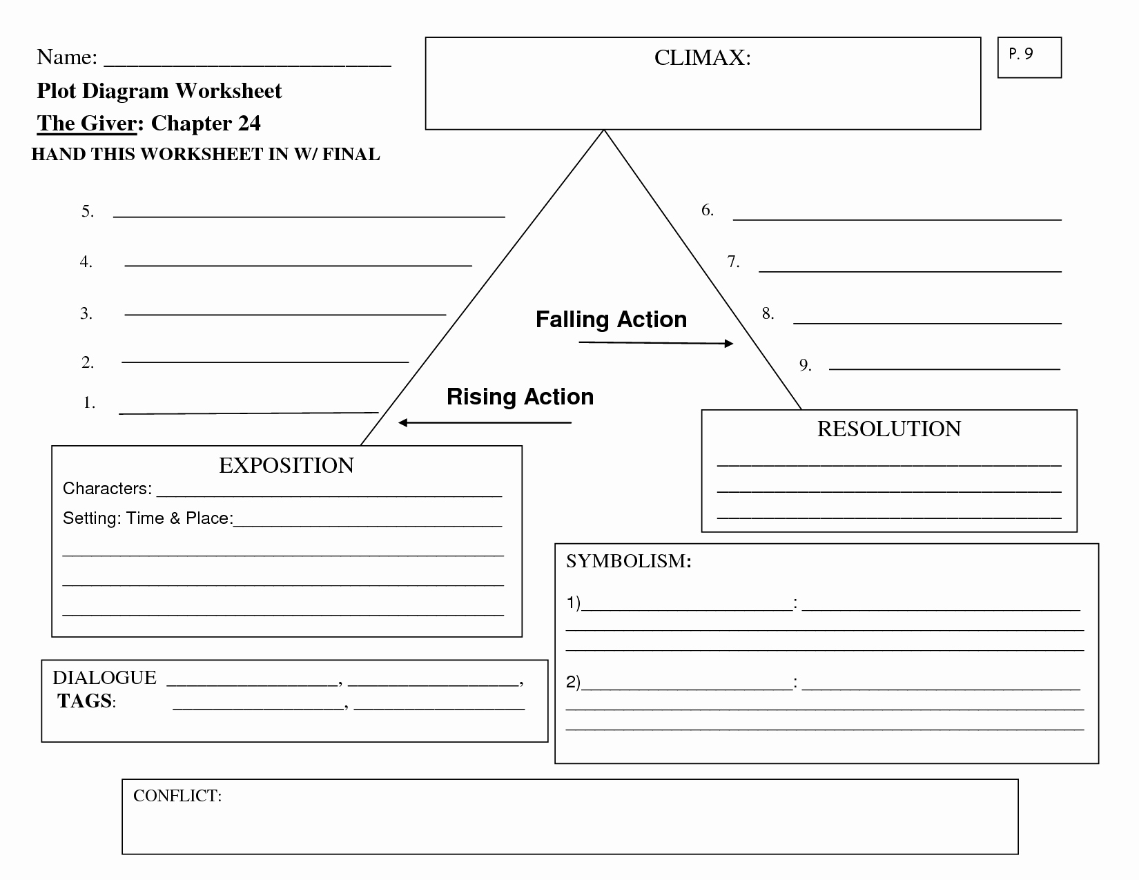 Plot Diagram Worksheet Pdf New 15 Best Of Story Climax Worksheet Suspense